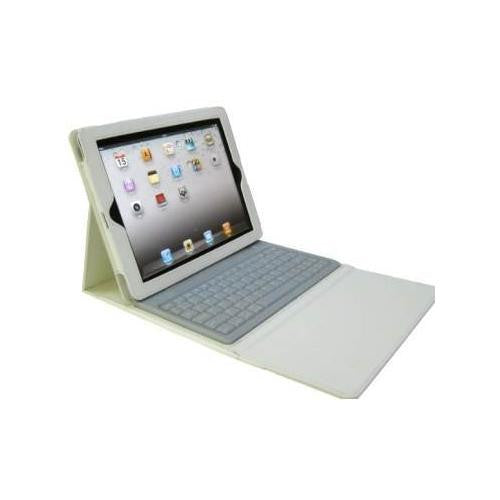 IPAD 3 Case With Bluetooth Keyboard White
