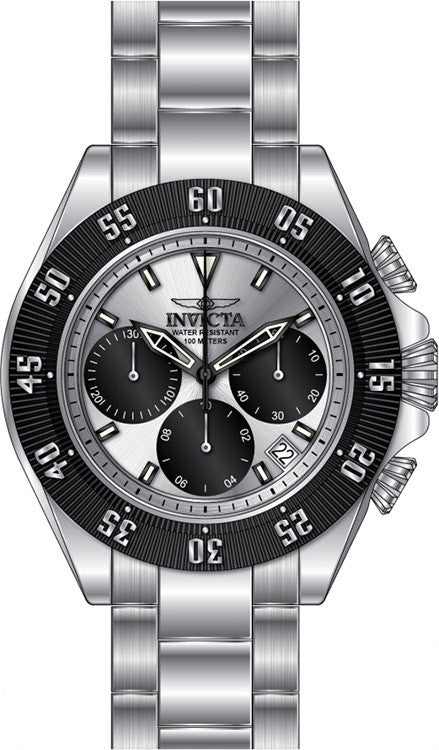 Invicta Men's Speedway Quartz Chronograph Black, Silver Dial Watch 22392
