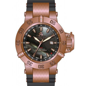 Invicta Men's Subaqua 500m GMT Rose Gold Plated Stainless Steel Watch 80428