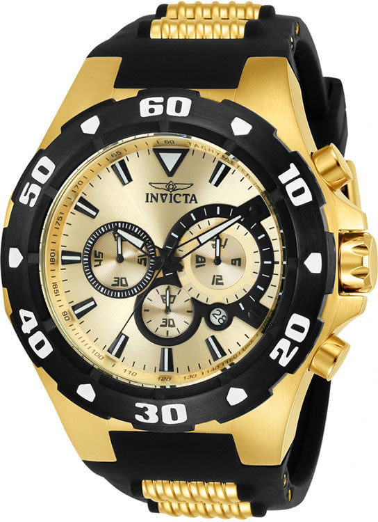 Invicta Mens Pro Diver Chronograph S. Steel Two Toned 100m Watch 24682
