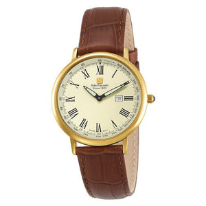 Steinhausen Men's Dunn Horitzon Swiss Gold Watch TW493G