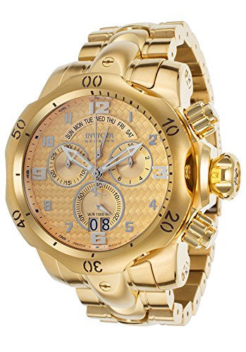 Invicta Men's Venom Chronograph 1000m Gold Plated Stainless Steel Watch 17633