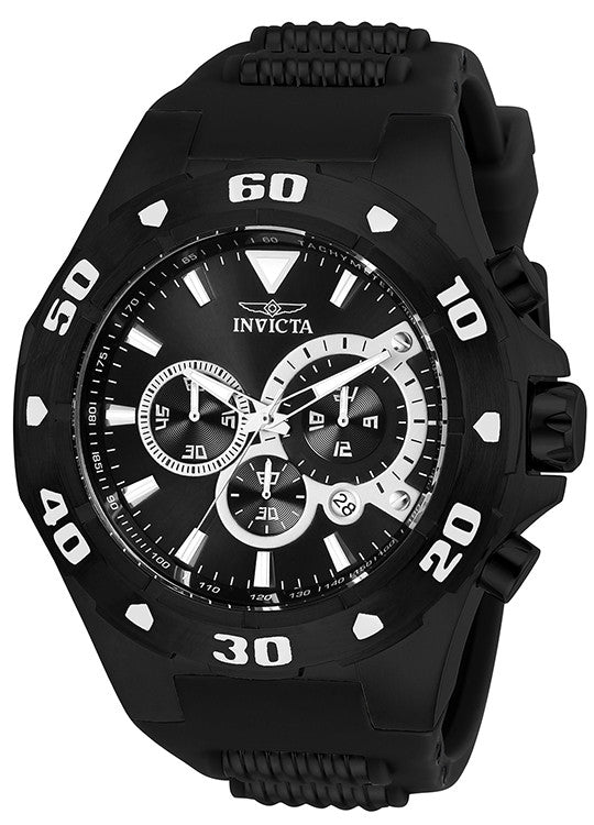 Invicta Men's Pro Diver Quartz Multifunction Black Dial Watch 24684