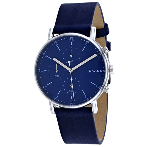 Skagen Men's Classic Stainless Steel Leather Watch SKW6463