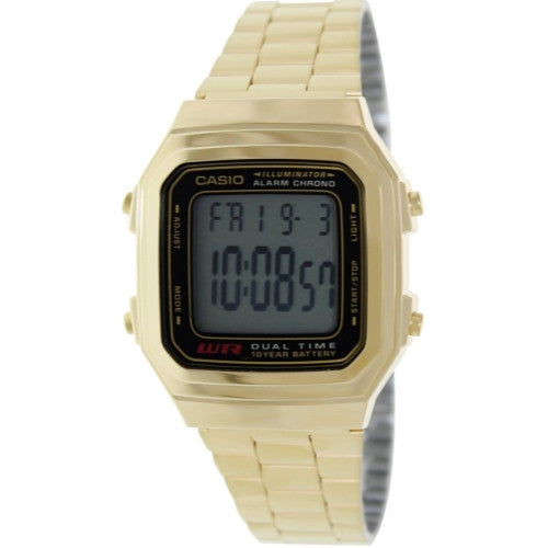 Casio Dual Time Illuminator Gold Watch A178WGA-1A A178