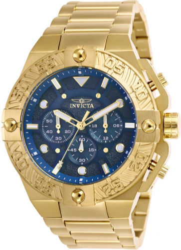 Invicta Men's Pro Diver Chrono 100m Gold-Plated Stainless Steel Watch 25829