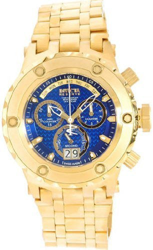 Invicta Men's Subaqua Chronograph 500m Gold Plated Stainless Steel Watch 14469