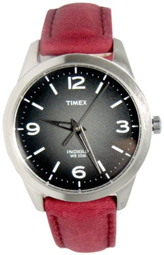 Timex Women's T2N642 Weekender Classic Casual Rose Leather Strap Watch