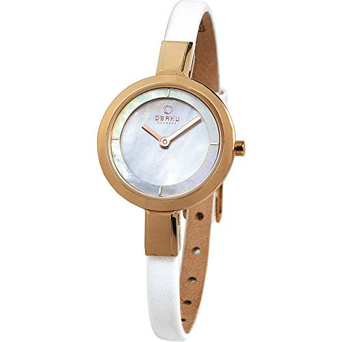 Obaku Women's Analog Display Quartz Mother of Pearl Dial Watch V129LXVWRW