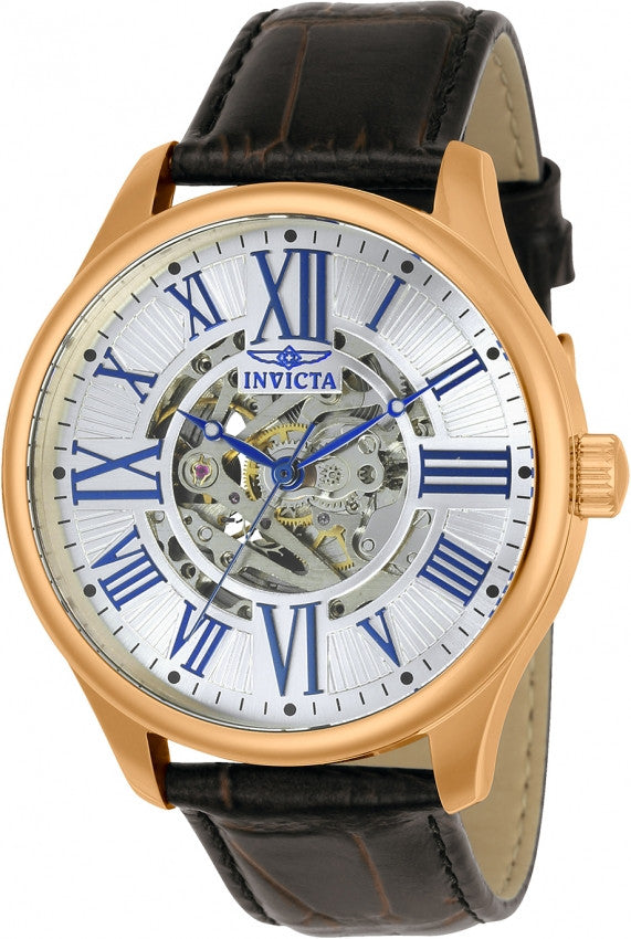 Invicta Men's Objet D Art Automatic 3 Hand Silver Dial Watch 23636