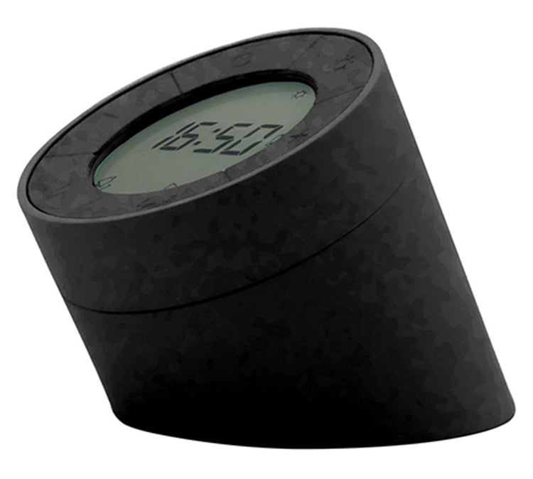 Gingko Edge Light Digital Rechargeable Dual Alarm Clock (Black) G001BK