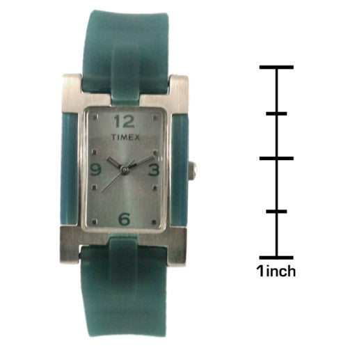 Timex Women's Blue Dial Blue Rubber Strap Watch
