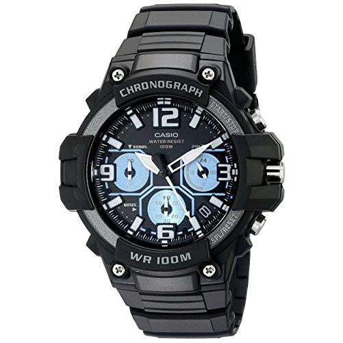 Casio Men's Heavy Duty-Design Chronograph Black Watch MCW100H-1A2V