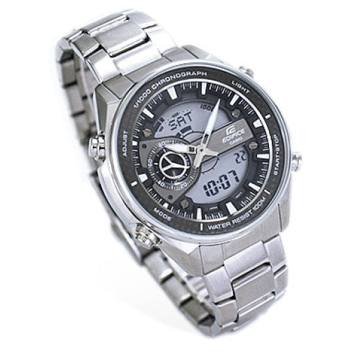 Casio Men's Stainless Steel Edifice World Time Watch EFA133D-8AV