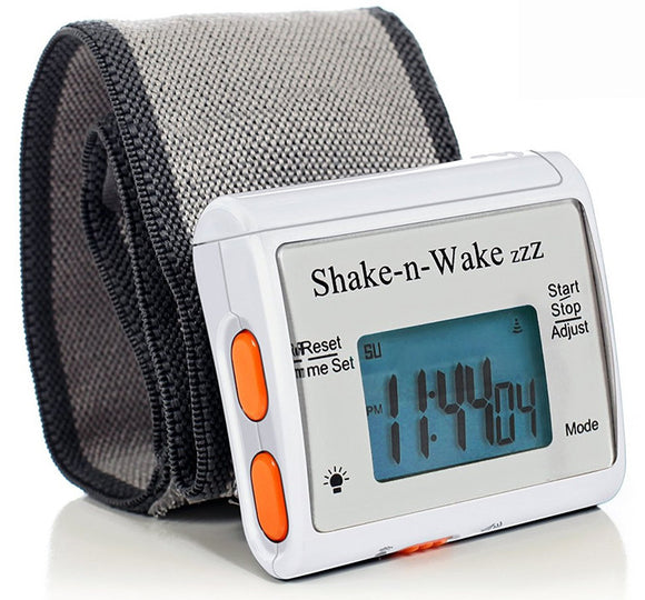 Tech Tools Shake-n-Wake Silent Vibrating Alarm Wrist Watch (White) PI-107
