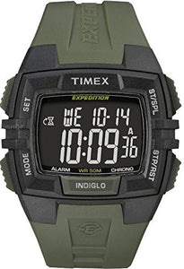 Timex Men's Expedition Rugged Wide Digital CAT Black/Green Watch T49903