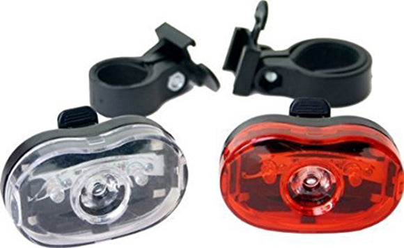 Duo Bicyle Safety Lights 2 LED Quick Release Mounting Bracket BL00605W