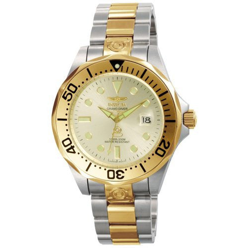 Invicta Men's Pro Diver Automatic 300m Two Tone Stainless Steel Watch 3050