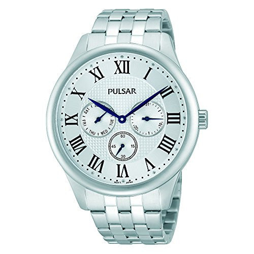 Pulsar Men's PP6169 Analog Display Japanese Quartz Silver Watch