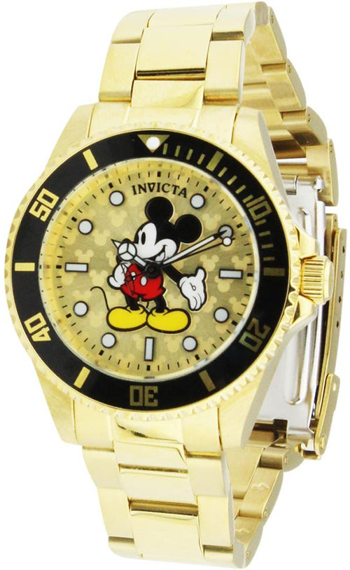 Invicta Women's Disney Quartz 100m Gold Tone Stainless Steel Watch 29673