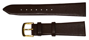 Hadley Roma Men's 20mm Brown Genuine Leather Watch Strap MS712