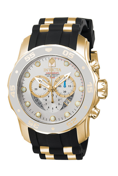 Invicta Men's Pro Diver Quartz Chronograph Silver Dial Watch 6985