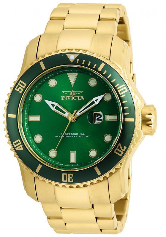 Invicta Men's Pro Diver Quartz 300m Gold Plated Stainless Steel Watch 20098