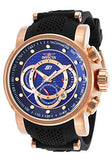 Invicta Men's S1 Rally Chrono Blue Dial Rose Gold Black Silicone Watch 19333