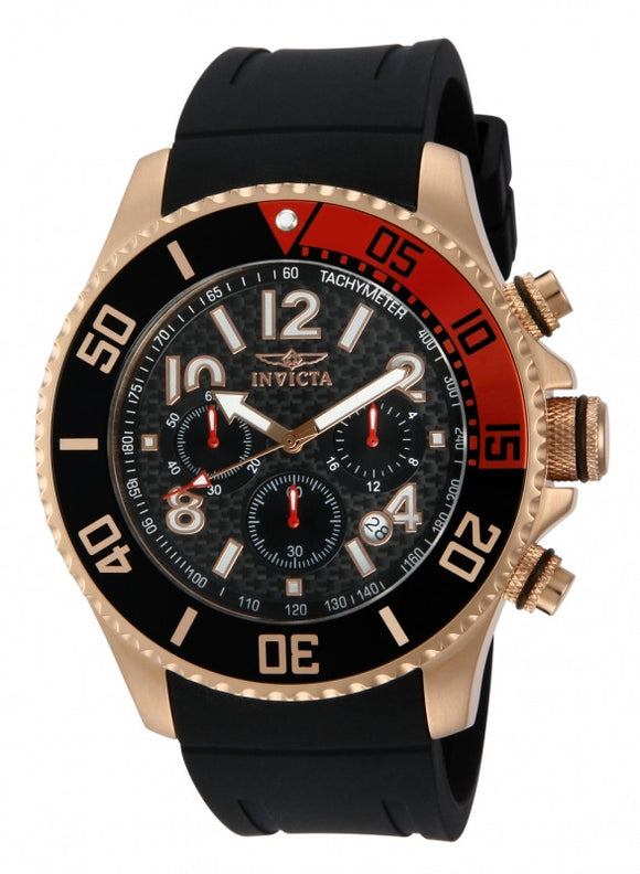 Invicta Men's 13731 Pro Diver Quartz Chronograph Black Dial Watch