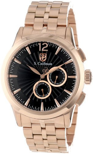S. Coifman Men's Chrono Quartz Rose Gold Plated Stainless Steel Watch SC0272