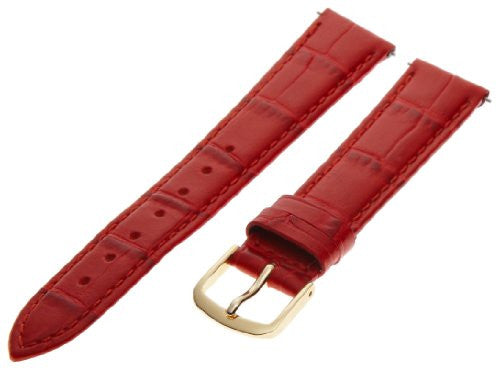 Hadley Roma Women's 16mm Red Alligator Grain Leather Watch Strap LS135