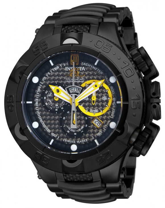 Invicta Men's Jason Taylor Chronograph 500m Black Stainless Steel Watch 14412