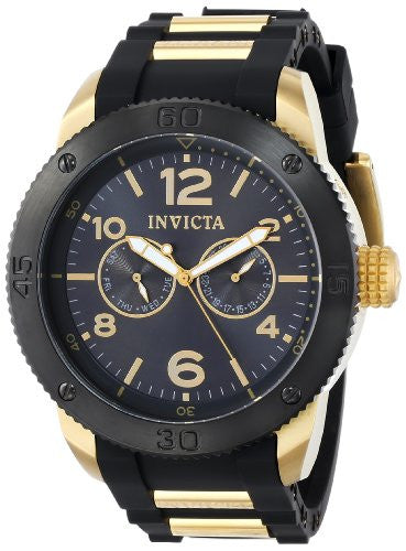 Invicta Men's Specialty Chrono Stainless Steel Black Polyurethane Watch 15810
