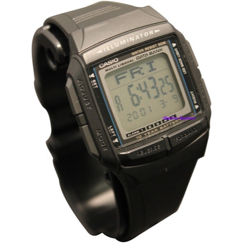 CASIO DATABANK DUAL TIME ALARM DIGITAL WATCH DB36-1