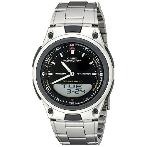 CASIO MENS ANALOG DIGITAL 30 DATABANK WATCH AW80D-1