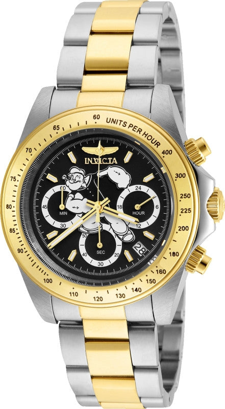 Invicta Men's Character Quartz Multifunction Black Dial Watch 24484
