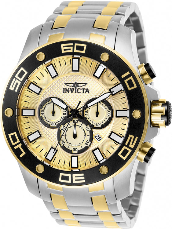 Invicta Men's Pro Diver Quartz Chrono 100m Two-Tone Stainless Steel Watch 26080
