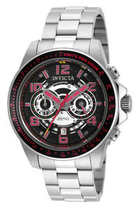 Invicta Men's 19284 Speedway Quartz Multifunction Black, Silver Dial Watch