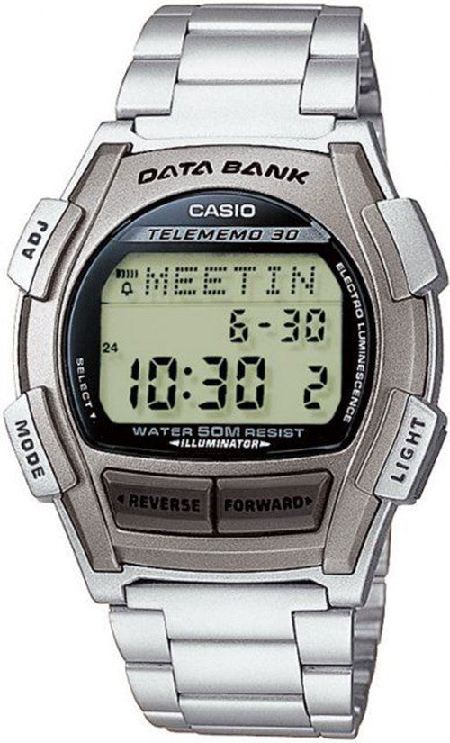 Casio Men's Digital 30-Page Databank Stainless Steel Watch DB35HD-8AV