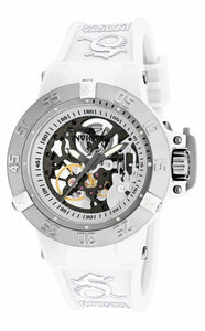 Invicta Women's Subaqua Mechanical 200m Plastic Case White Silicone Watch 17143
