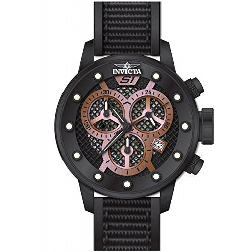 Invicta Men S1 Rally Chrono Black Stainless Steel/Nylon/Polyurethane Watch 19625