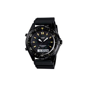 Casio Men's Ana-Digi 100m Water Resistant Black Resin Band Watch AMW360B-1A1V