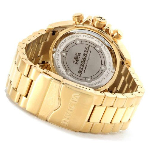 Invicta Men's Excursion Chronograph 200m Gold Plated Stainless Steel Watch 14473