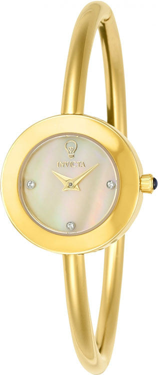 Invicta Women's Gabrielle Union 100m MOP Gold Tone Stainless Steel Watch 23259