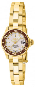 Invicta Women's Pro Diver Quartz 200m Gold Plated Stainless Steel Watch 11444