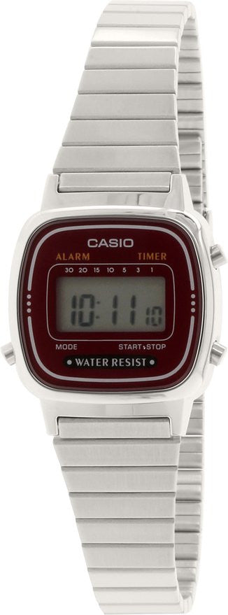 Casio Women's Retro Digital Quartz Stainless Steel Watch LA670WA-4