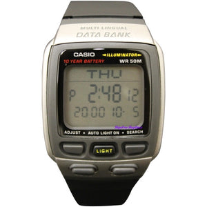 CASIO MEN'S DATABANK SPORT WATCH WITH 4 ALARMS DB37H-1A