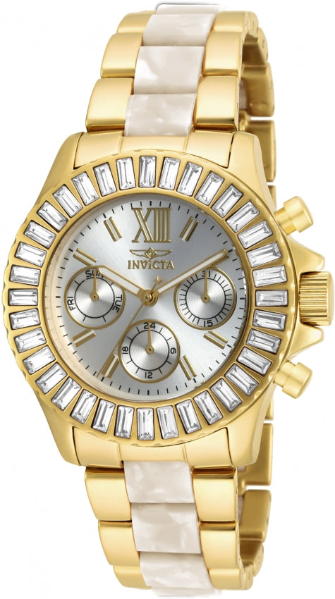 Invicta Women's Angel Quartz Chronograph Two Tone Stainless Steel Watch 17491