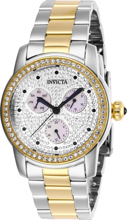 Invicta Women's Angel Quartz Crystals Two Tone Stainless Steel Watch 28467