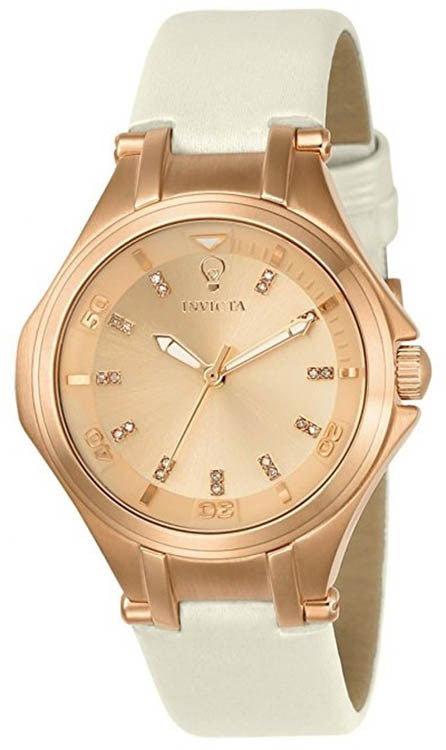 Invicta Women's 23252 Gabrielle Union Quartz 3 Hand Rose Gold Dial Watch
